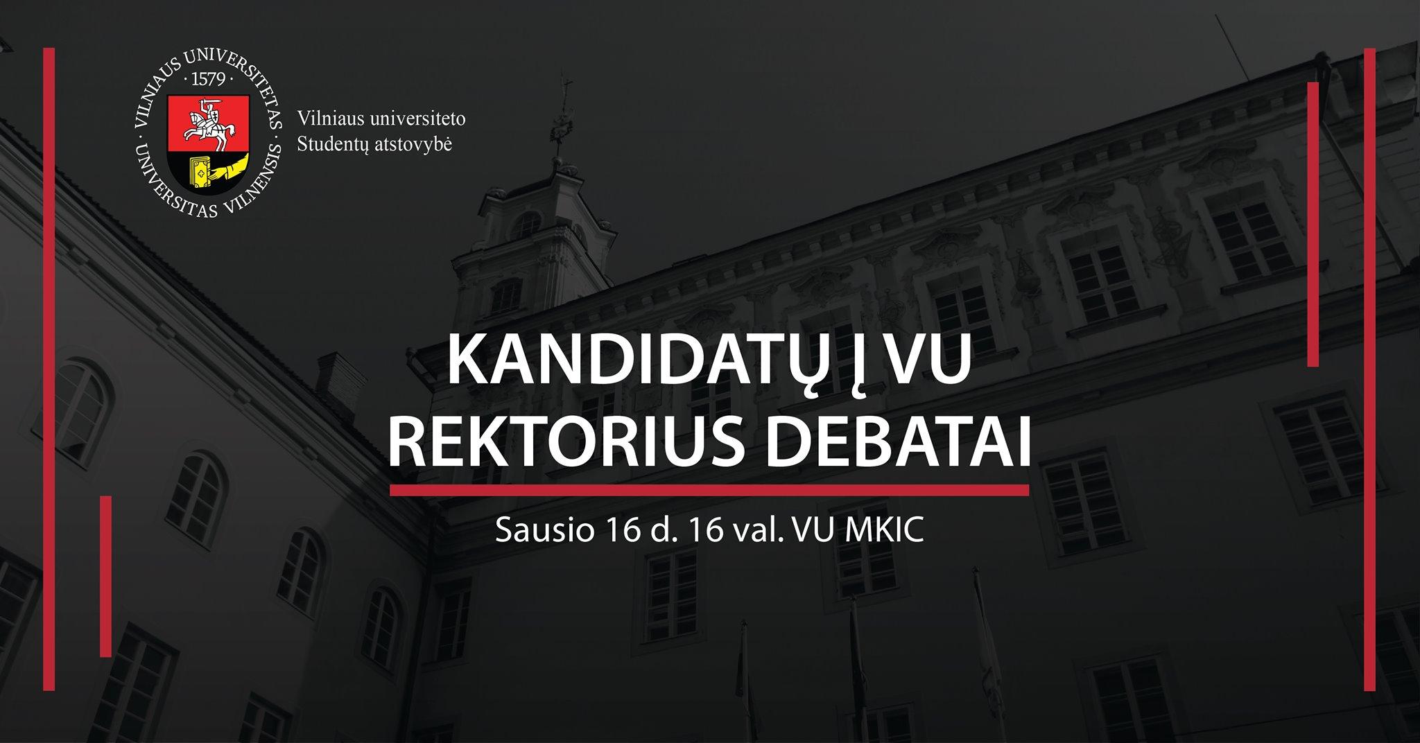 Kandidatų į VU rektorius debatai